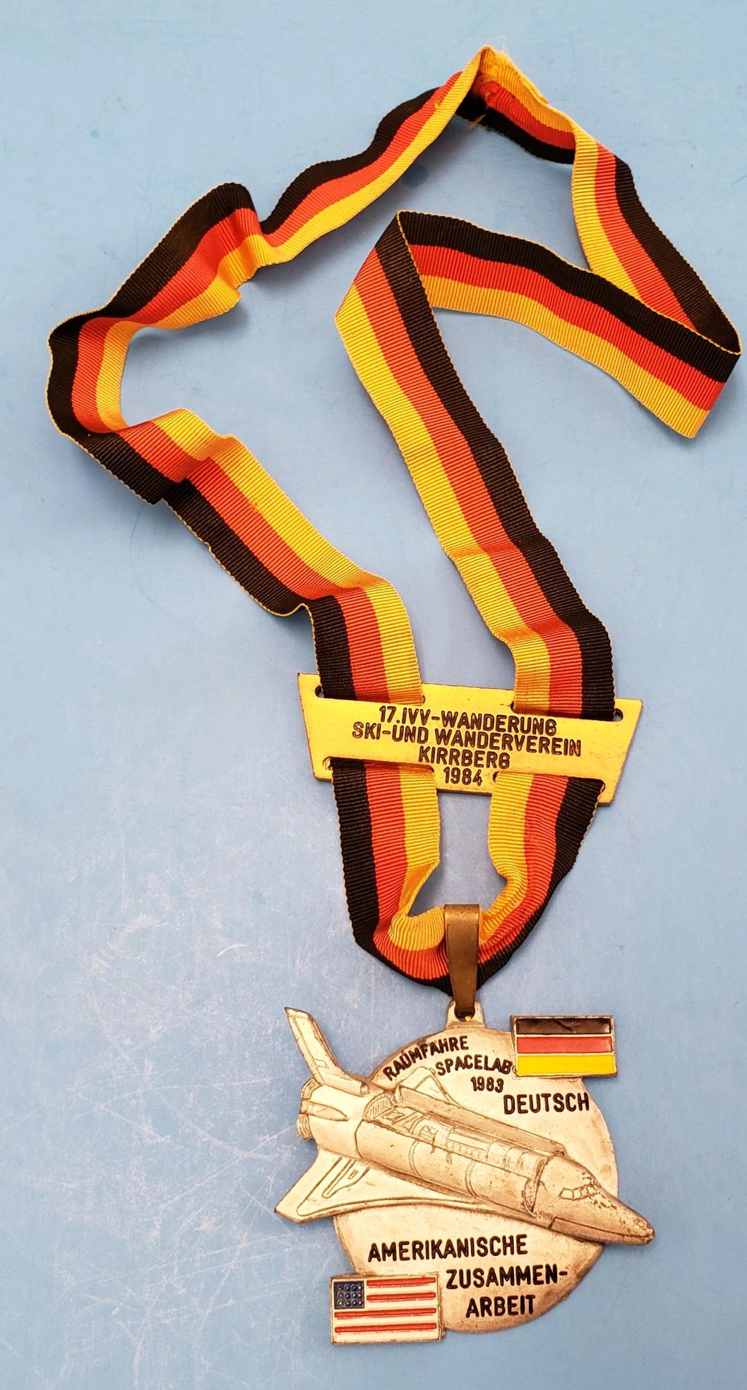 German Hiking Medal Space Shuttle